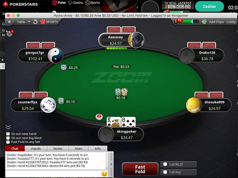 Zoom Poker Strategy - PokerStars Zoom Table